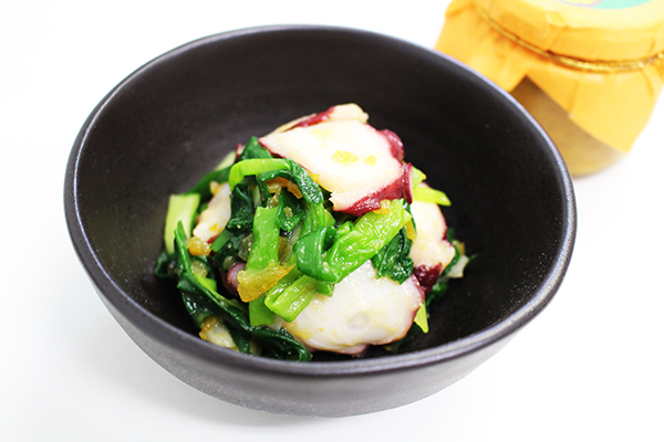 Super easy miso marinaded long onion and Seafood